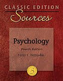 Book Classic Edition Sources: Psychology: Psychology by Terry Pettijohn