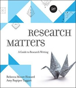 Book Research Matters by Rebecca Moore Howard