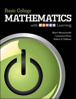 Book Basic College Mathematics with P.O.W.E.R. Learning by Sherri Messersmith