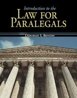 Book Introduction to the Law for Paralegals by Deborah Benton