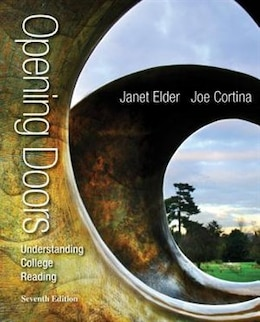 Book Opening Doors: Understanding College Reading by Janet Elder