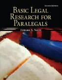 Book Basic Legal Research for Paralegals by Edward Nolfi
