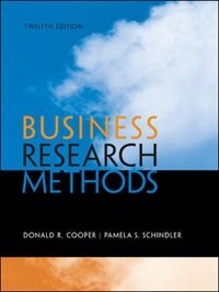 Book Business Research Methods by Donald Cooper