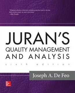 Book Juran's Quality Management and Analysis by Joseph A. Defeo