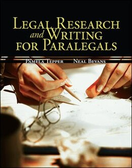 Book Legal Research & Writing for Paralegals by Pamela Tepper