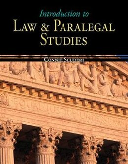 Book Introduction to Law & Paralegal Studies by Connie Scuderi