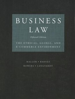 Book Business Law by Jane Mallor