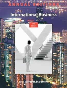 Book Annual Editions: International Business, 17/e by Fred Maidment