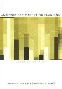Book Analysis For Marketing Planning by Donald Lehmann