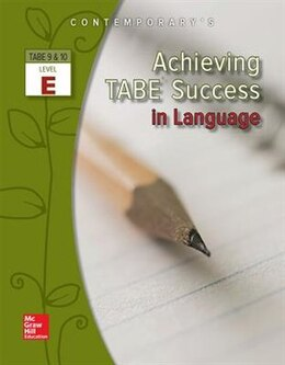 Book Achieving TABE Success In Language, Level E Workbook by McGraw-Hill Education