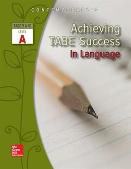Book Achieving TABE Success In Language, Level A Workbook by Contemporary