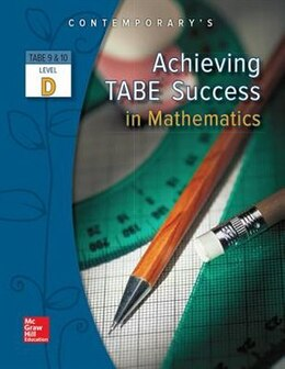Book Achieving TABE Success In Mathematics, Level D Workbook by McGraw-Hill Education