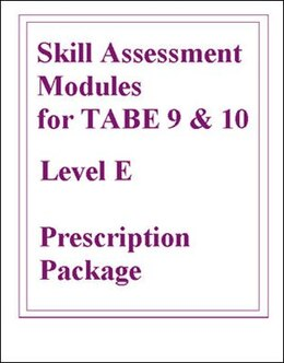 Book Skill Assessment Modules for TABE 9 & 10 Level E Prescription Package by McGraw-Hill Education