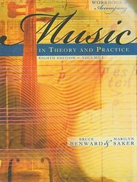 Book Workbook to accompany Music in Theory and Practice, Volume 1 with Finale Discount Sticker by Bruce Benward