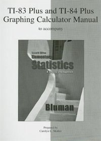 Book TI-83 Plus and TI-84 Plus Graphing Calculator Manual to accompany Elementary Statistics: A Step by… by Allan Bluman