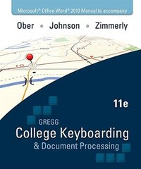 Microsoft Office Word 2010  Manual t/a Gregg College Keyboarding & Document Processing (GDP…