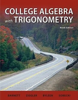 Book College Algebra with Trigonometry by Raymond Barnett