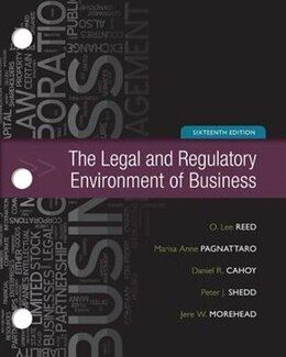 Book Loose-Leaf for Legal and Regulatory Environment by O. Lee Reed