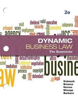 Book Loose-Leaf Business Law: The Essentials by Nancy Kubasek