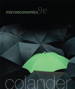 Book Microeconomics by David Colander