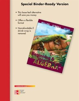Book Loose Leaf Version for Beginning & Intermediate Algebra by Julie Miller