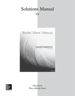 Book Solutions Manual for Investments by Zvi Bodie