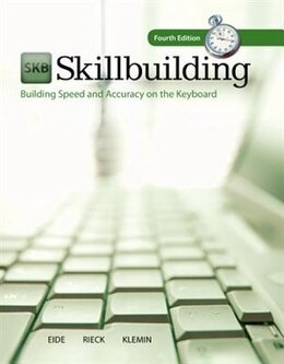 Book Skillbuilding: Building Speed & Accuracy On The Keyboard with Software Registration Card by Carole Eide