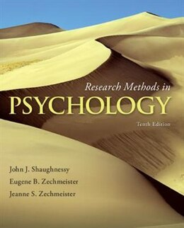 Book Research Methods In Psychology by John Shaughnessy