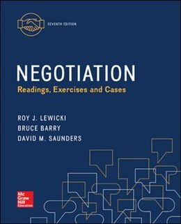 Book Negotiation: Readings, Exercises, and Cases by Roy Lewicki