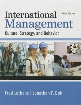 Book International Management: Culture, Strategy, and Behavior by Fred Luthans