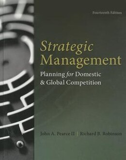 Book Strategic Management by John Pearce