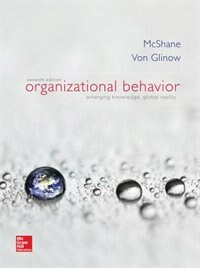 Book Organizational Behavior by Steven McShane