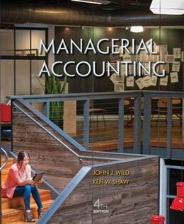Book Managerial Accounting by John Wild