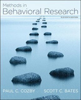 Book Methods in Behavioral Research by Paul Cozby