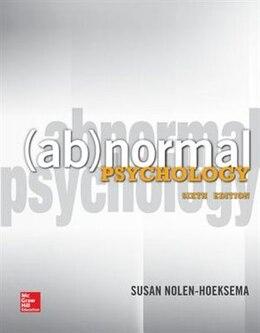 Book Abnormal Psychology by Susan Nolen-hoeksema