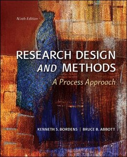 Book Research Design and Methods: A Process Approach by Kenneth Bordens