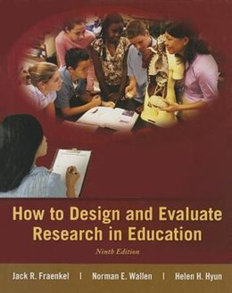 Book How to Design and Evaluate Research in Education by Jack Fraenkel