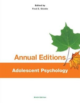Book Annual Editions: Adolescent Psychology, 9/e by Fred Stickle