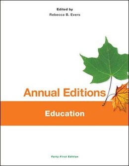 Book Annual Editions: Education, 41/e by Rebecca Evers