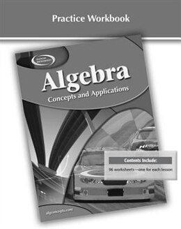 Book Algebra: Concepts And Applications, Practice Workbook by Mcgraw-hill