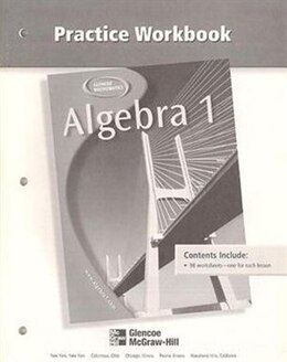 Book Algebra 1, Practice Workbook by Glencoe Mcgraw-hill