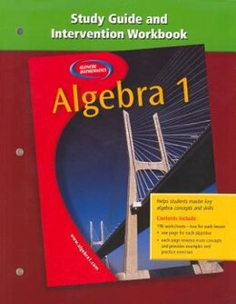 Book Algebra 1, Study Guide And Intervention Workbook by (unavailable)