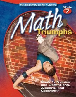 Book Math Triumphs, Grade 7, Student Study Guide, Book 1: Number and Operations, Algebra, and Geometry by McGraw-Hill Education
