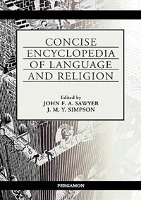 Book Concise Encyclopedia Of Language And Religion by J.f.a. Sawyer
