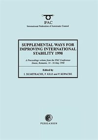 Book Supplemental Ways For Improving International Stability 1998 by I. Dumitrache