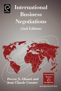 Book International Business Negotiations by Pervez N. Ghauri