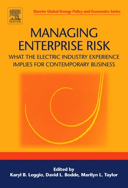 Book Managing Enterprise Risk: What the Electric Industry Experience Implies for Contemporary Business by Karyl B Leggio