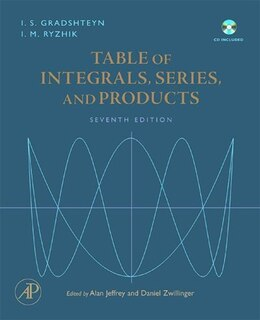 Book Table of Integrals, Series, and Products by Alan Jeffrey