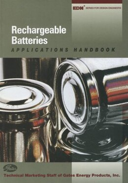 Book Rechargeable Batteries Applications Handbook by Gates Energy Product