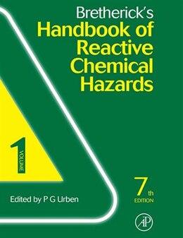 Book Bretherick's Handbook of Reactive Chemical Hazards: 2-Volume Set by PETER URBEN